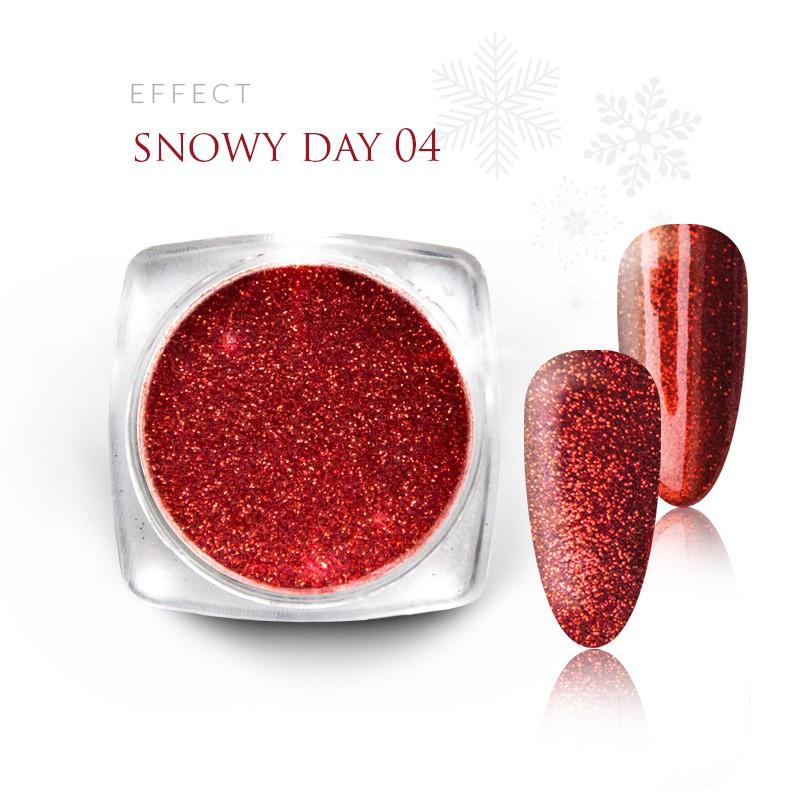 Pyłek Efekt na paznokcie Świąteczny Zimowy Snow 04