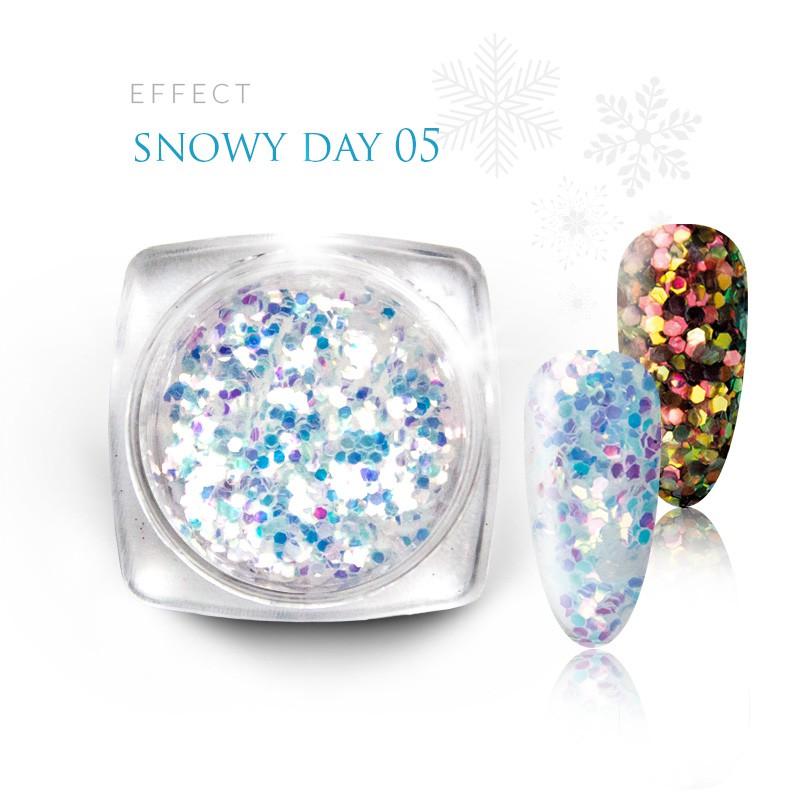 Pyłek Efekt na paznokcie Świąteczny Zimowy Snow 05