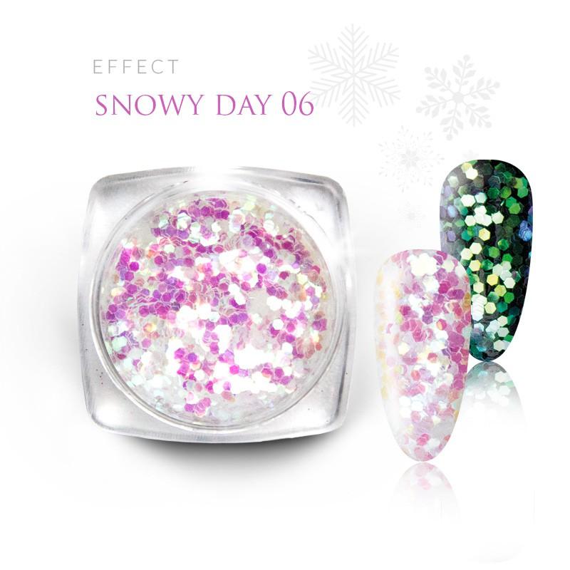 Pyłek Efekt na paznokcie Świąteczny Zimowy Snow 06