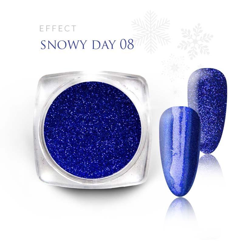 Pyłek Efekt na paznokcie Świąteczny Zimowy Snow 08