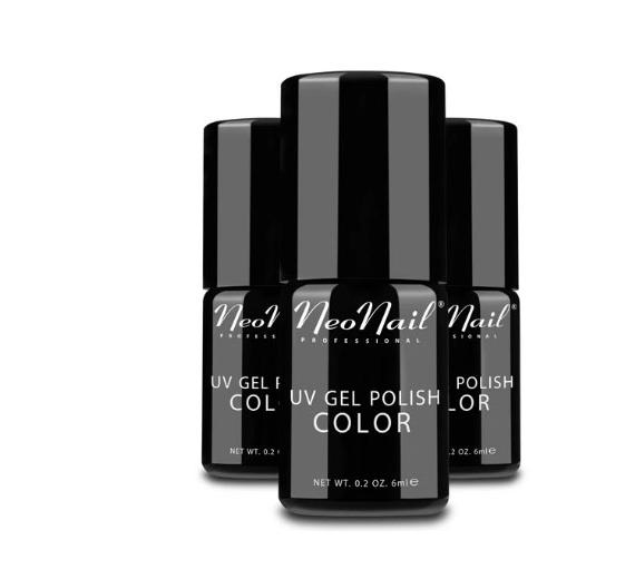 Neonail Zestaw Hard Baza + Hard Top + 3x Hybryda + Prezent Etui