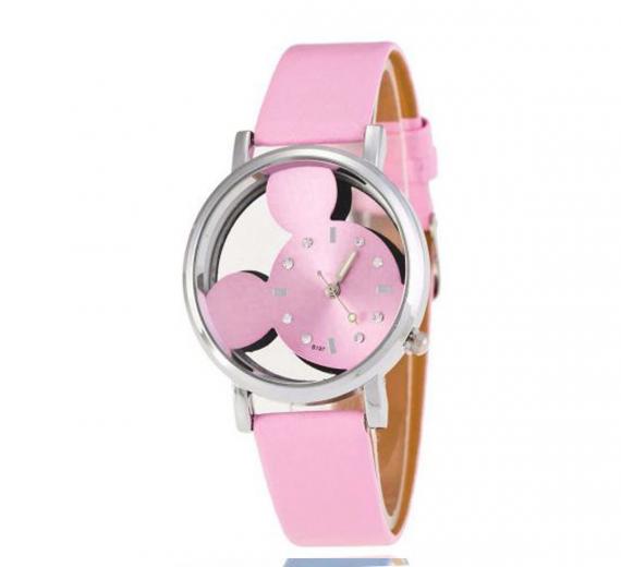 Zegarek damski Mickey myszka pasek JASNY RÓŻ