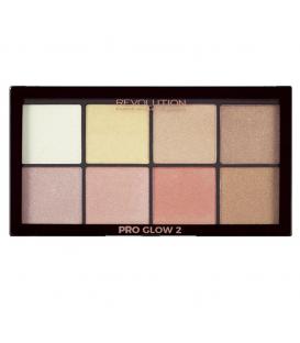 Makeup Revolution Paleta Rozświetlaczy Pro Glow 2