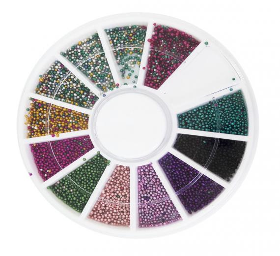 Karuzela ozdoba bulion na paznokcie mix kolorów