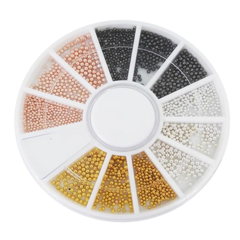 Karuzela ozdoba bulion na paznokcie mix kolorów 2