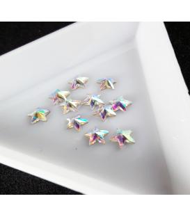 Ozdoby 3D kryształki diamenty do paznokci 2 szt. Gwiazdka