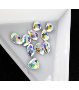 Ozdoby 3D kryształki diamenty do paznokci 2 szt. Łezka