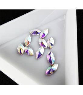 Ozdoby 3D kryształki diamenty do paznokci 2 szt. Horse eye