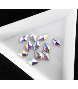 Ozdoby 3D kryształki diamenty do paznokci 2 szt. Romby