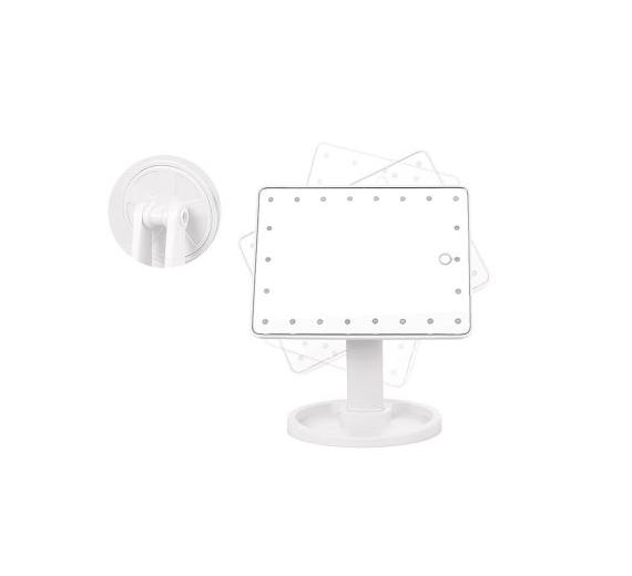 Lusterko kosmetyczne LED podświetlane Dotyk Białe
