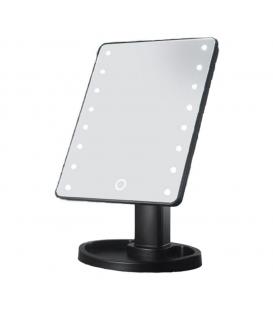 Lusterko kosmetyczne LED podświetlane Dotyk Czarne