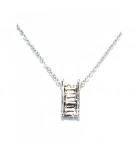 Łańcuszek naszyjnik celebrytka posrebrzany drabina S2