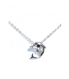 Łańcuszek naszyjnik celebrytka posrebrzany delfin S8