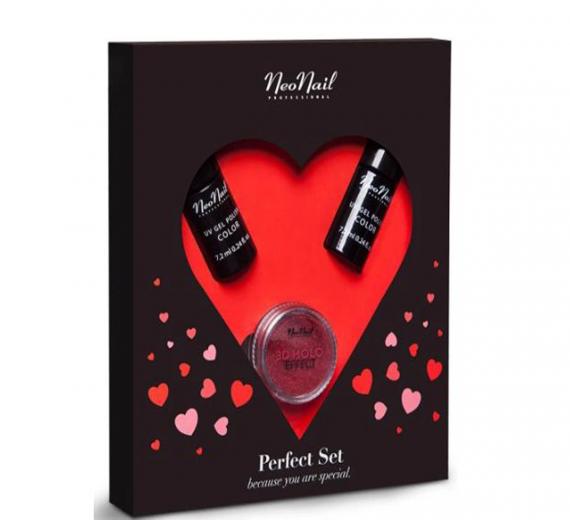 Neonail Zestaw Walentynkowy Perfect Set 2x Lakier Efekt holo