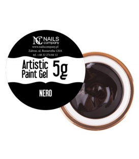 Nails company artistic paint gel do zdobień 5g czarny