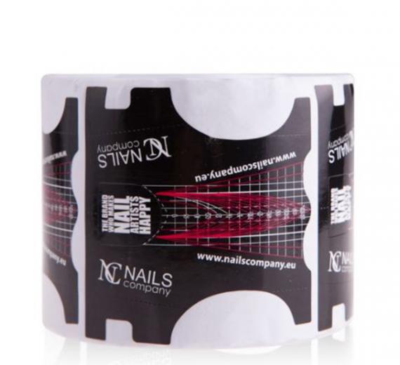 Nails company szablony do przedłużania paznokci czarne 100szt