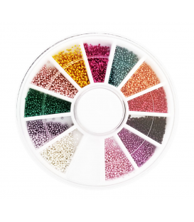 Karuzela ozdoba bulion na paznokcie mix kolorów 3