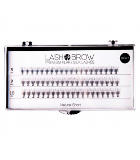 Lash Brow premium flare silk lashes rzęsy w kępkach Natural short