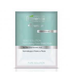 Bielenda Pure Solution Face Sheet Mask Normalizująca maska w płacie