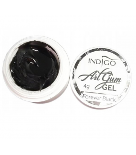Indigo Art Gum Gel Black 4g masa do zdobień czarna