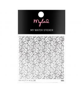MylaQ laklejki do paznokci My Water Sticker nr 1 Sowy