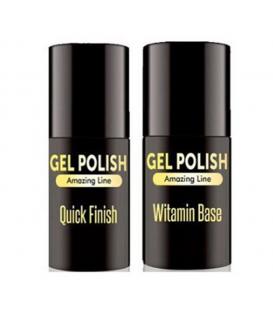 Zestaw top + baza hybryda gel polish