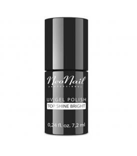 NeoNail Top Shine Bright No Wipe 7,2 ml mocno błyszczący