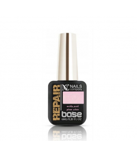 Nails Company baza repair base Milky Pink Glam Silver 6ml