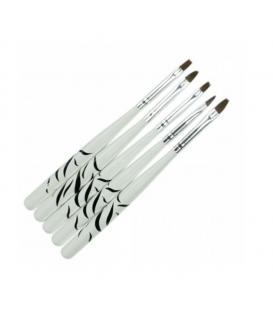 Zestaw pędzelków do stylizacji 5 szt. zebra żel akryl hybryda