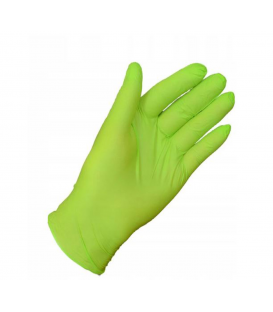 Rękawice Rękawiczki Nitrylowe L ZIELONE MERCATOR