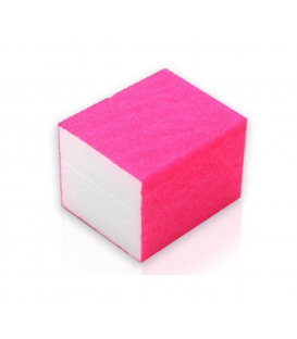 10x mini blok polerski 4 stronny polerka różowy
