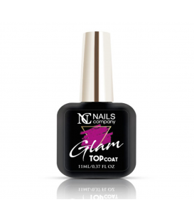 Nails Company Glam Top Coat Pink top z drobinkami 11ml