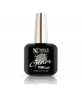 Nails Company Glam Top Coat Silver top z drobinkami 11ml
