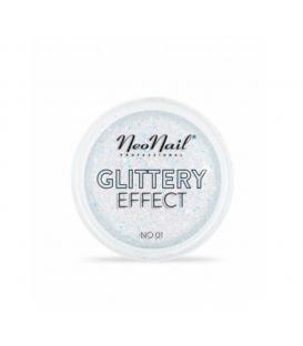 Neonail pyłek do stylizacji paznokci glittery effect no. 01