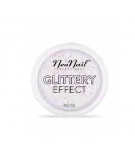 Neonail pyłek do stylizacji paznokci glittery effect no. 02