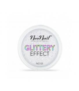 Neonail pyłek do stylizacji paznokci glittery effect no. 03