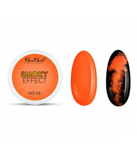 Neonail pyłek pigment smoky effect neon orange n03