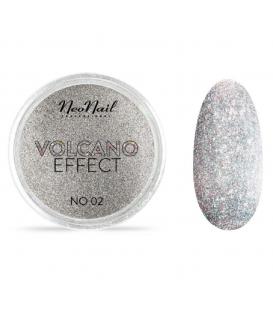Neonail pyłek volcano effect n02 srebro silver