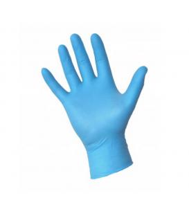 Rękawice rękawiczki nitrylowe L niebieskie/granat