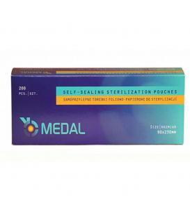 Torebki do sterylizacji 90mmx 230mm medal 200 szt
