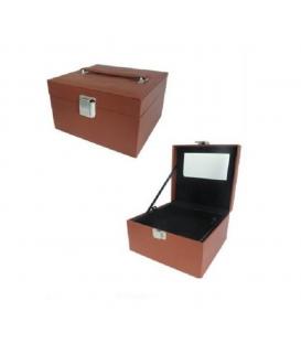 Kufer kosmetyczny brązowy