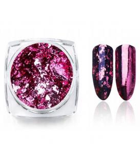 Prisma Effect do paznokci Płatki Alu Pink + pacynka