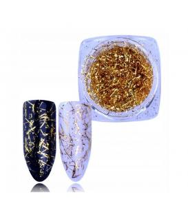 Nitki Alu ozdoba do paznokci Gold + pacynka