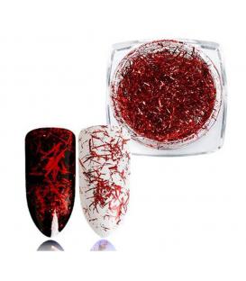 Nitki Alu ozdoba do paznokci Red+ pacynka