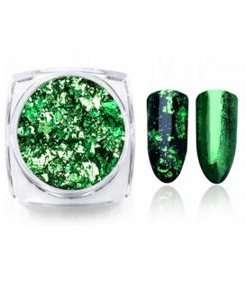 Prisma Effect do paznokci Płatki Alu Green + pacynka