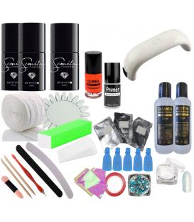 Startowy zestaw led manicure 3x lakier semilac