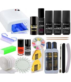 Zestaw manicure Flexy 5x lakier hybryda Lampa UV