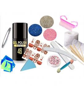Gel polish lakier hybrydowy led/uv + 7x gratis
