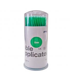 Mikroszczoteczki do oczyszczania rzęs aplikatory 2mm zielone fine