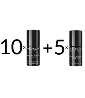 Promocja Neonail zestaw 10+5 premium